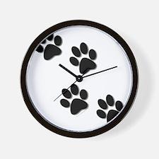 paws.gif Wall Clock