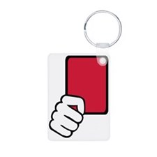 red_card_hand Keychains