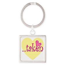 taken.gif Square Keychain