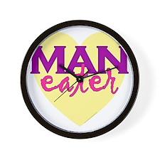man eater.gif Wall Clock