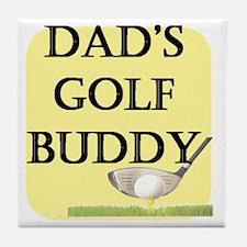 dads golf buddy.gif Tile Coaster