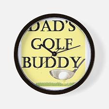 dads golf buddy.gif Wall Clock