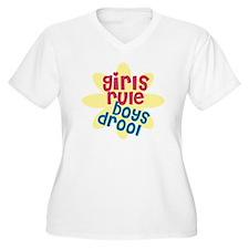 girls rule boys d T-Shirt