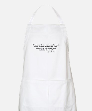 Two wolves and a lamb BBQ Apron