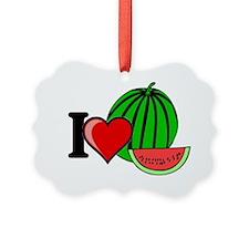 i heart watermelon.gif Picture Ornament