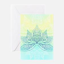 Pale Blue Lotus Greeting Card