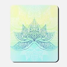 Pale Blue Lotus Mousepad