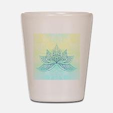 Pale Blue Lotus Shot Glass
