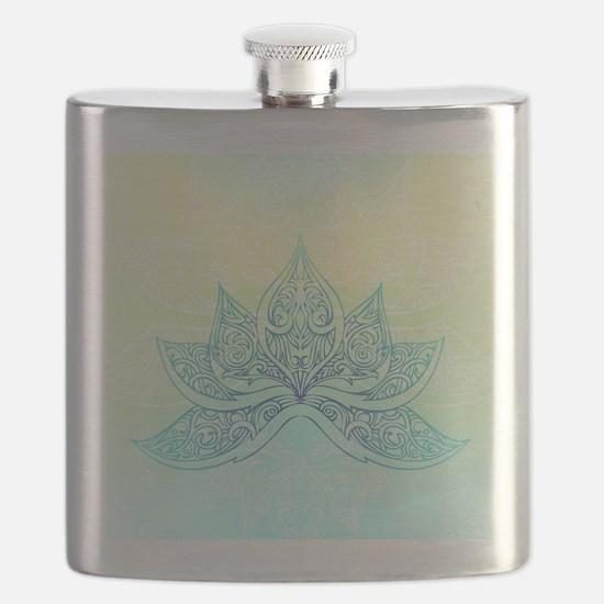 Pale Blue Lotus Flask