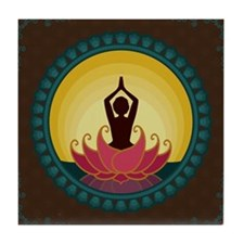 Sunrise Yoga Art Tile Coaster