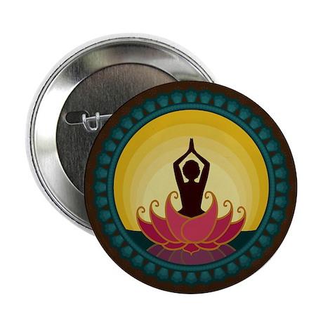 "Sunrise Yoga Art 2.25"" Button"