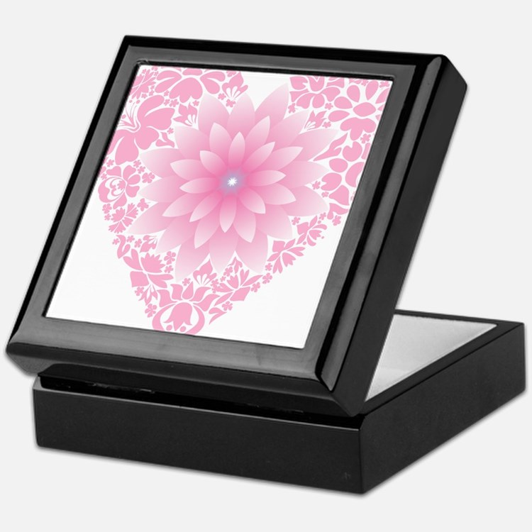 Pale Lotus Heart Keepsake Box