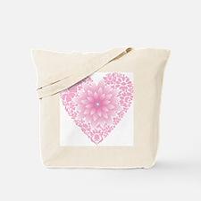 Pale Lotus Heart Tote Bag