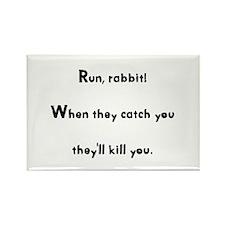 Run, rabbit! Rectangle Magnet