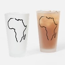 africa_outline Drinking Glass
