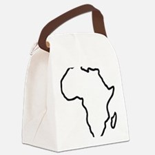 africa_outline Canvas Lunch Bag
