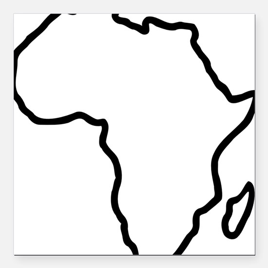 "africa_outline Square Car Magnet 3"" x 3"""