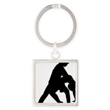 dancing_4 Square Keychain