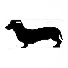 dog_dachshund Aluminum License Plate