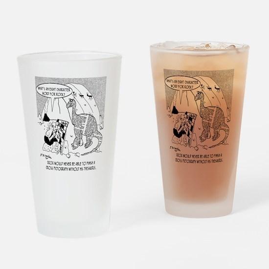 7190_archaeology_cartoon Drinking Glass