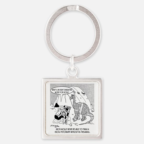 7190_archaeology_cartoon Square Keychain