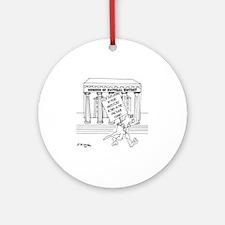 5999_museum_cartoon Round Ornament