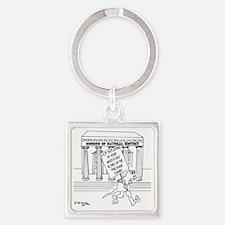 5999_museum_cartoon Square Keychain