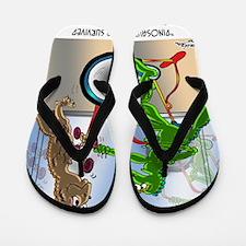 7945_lizard_cartoon Flip Flops