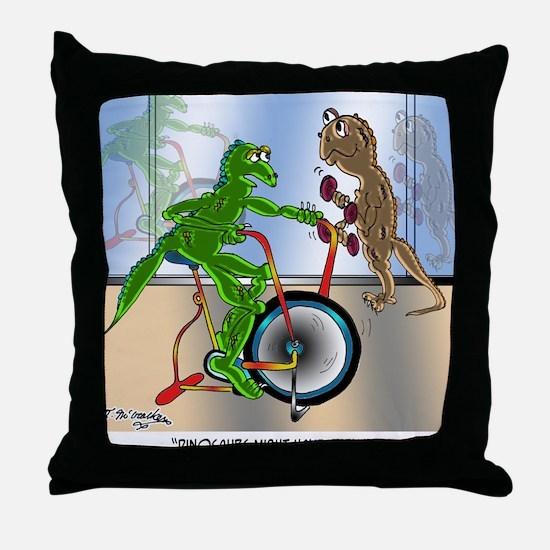 7945_lizard_cartoon Throw Pillow