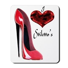 love red stiletto and heart Mousepad
