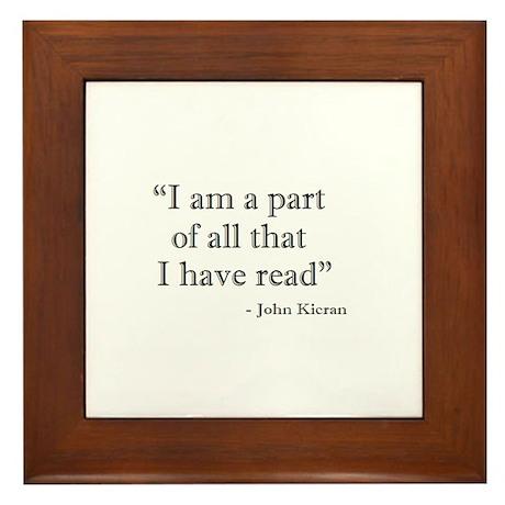 I am a part... Framed Tile