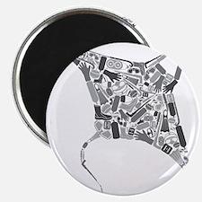 Mantaray SCUBA Equipment Collage Magnet