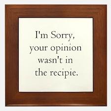Cooking Humor Framed Tile
