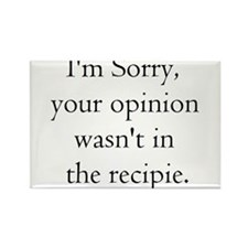 Cooking Humor Rectangle Magnet