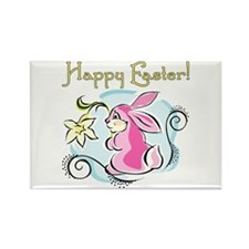 Happy Easter Bunny Rectangle Magnet