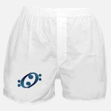 Blue YY Bass Clef Boxer Shorts