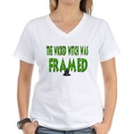 Wicked Witch Was Framed Women's V-Neck T-Shirt
