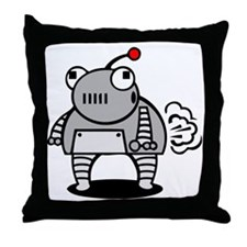 I Pooped Today! Funny Robot Throw Pillow