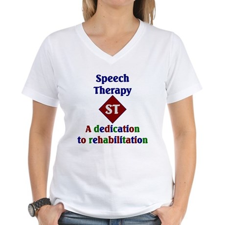 Speech Therapy Dedication Women's V-Neck T-Shirt