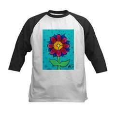 Pink and Blue Flower Tee