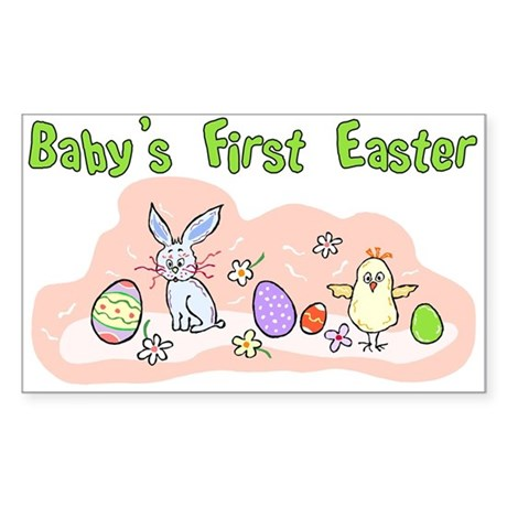 Baby's First Easter Rectangle Sticker