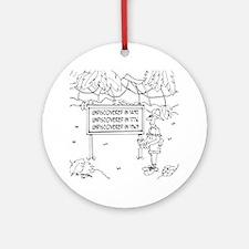 5841_explorer_cartoon Round Ornament