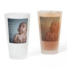 just do the best you can 8 x 10 Drinking Glass