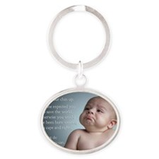 just do the best you can 8 x 10 Oval Keychain