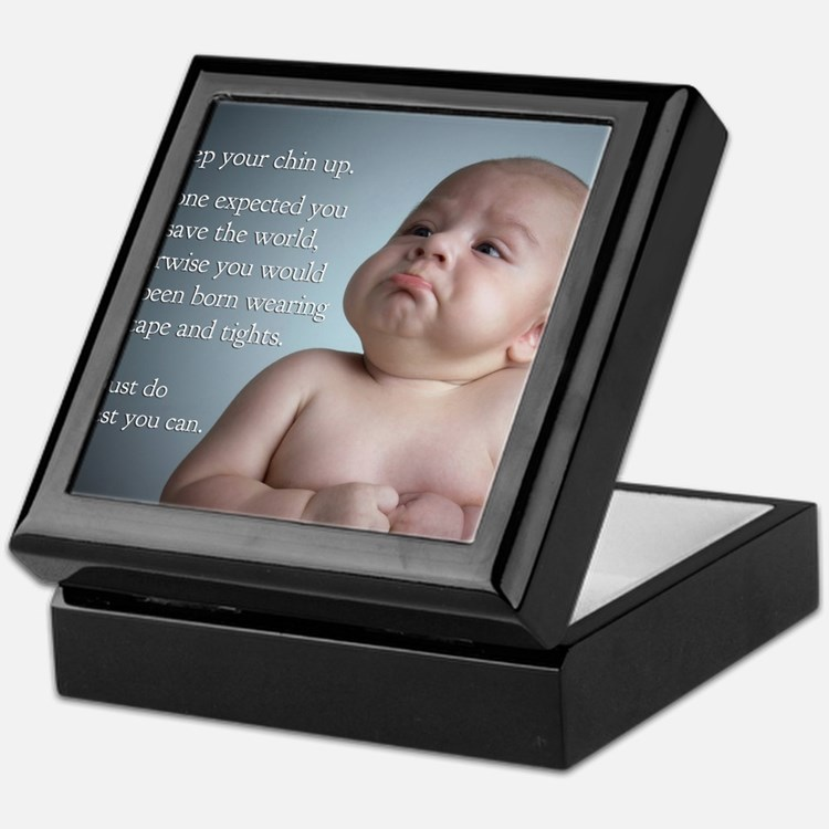 just do the best you can 8 x 10 Keepsake Box