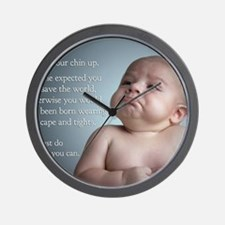 just do the best you can 8 x 10 Wall Clock