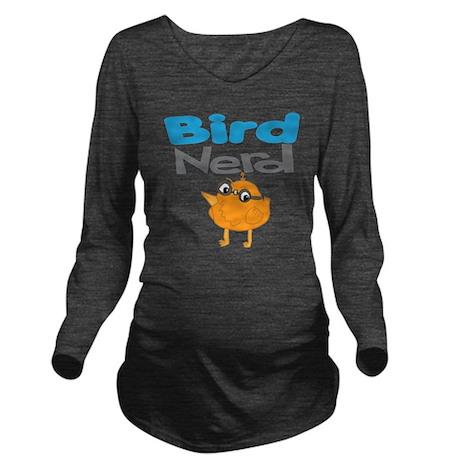 birdnerd3 Long Sleeve Maternity T-Shirt