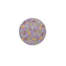 Baby Animals on Purple Mini Button