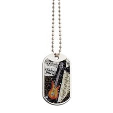 bass-guitar-ornament Dog Tags