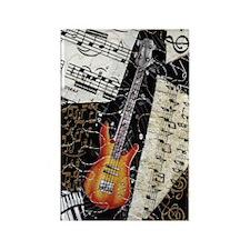 bass-guitar-ornament Rectangle Magnet